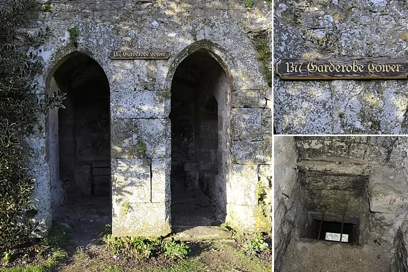 The Medieval toilets at Amberley Castle