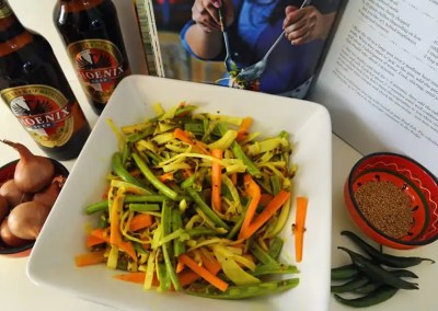 Spicy coleslaw from Mauritius