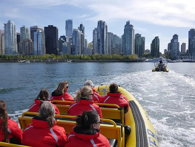 Zodiac tour around Vancouver, British Columbia, Canada