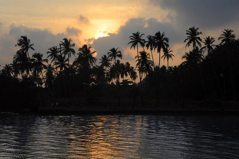Sunset on the Chapora River, Goa, India