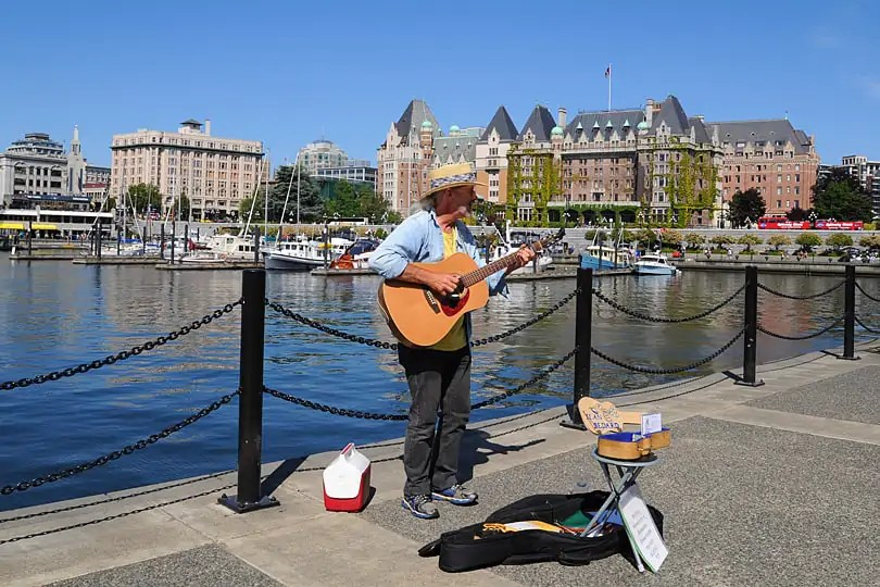 Busker by Victoria's Inner harbour