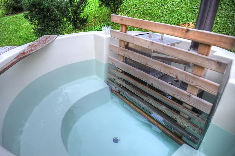 Private hot tub, glamping by Lake Bled, Slovenia