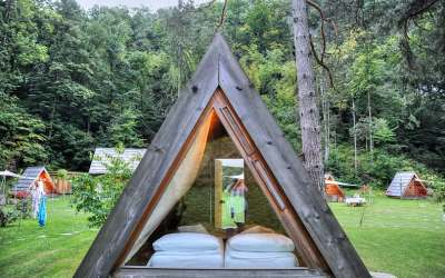 A memorable night glamping by Lake Bled