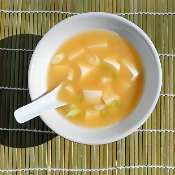 Miso soup from Japan