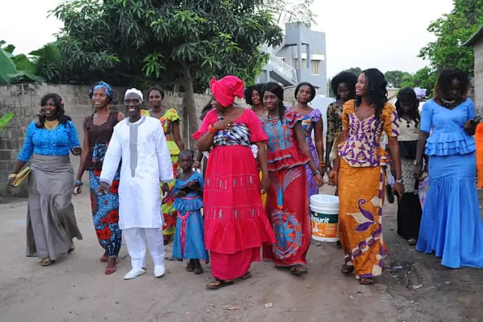 Traditional West African wedding, The Gambia
