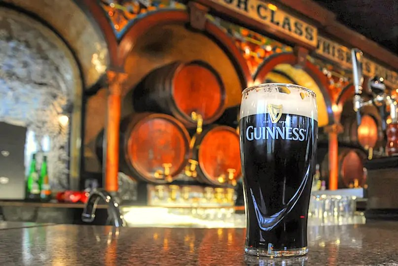 A pint of Guinness in the Crown Liquer Saloon, reoutedly the best pint in Belfast