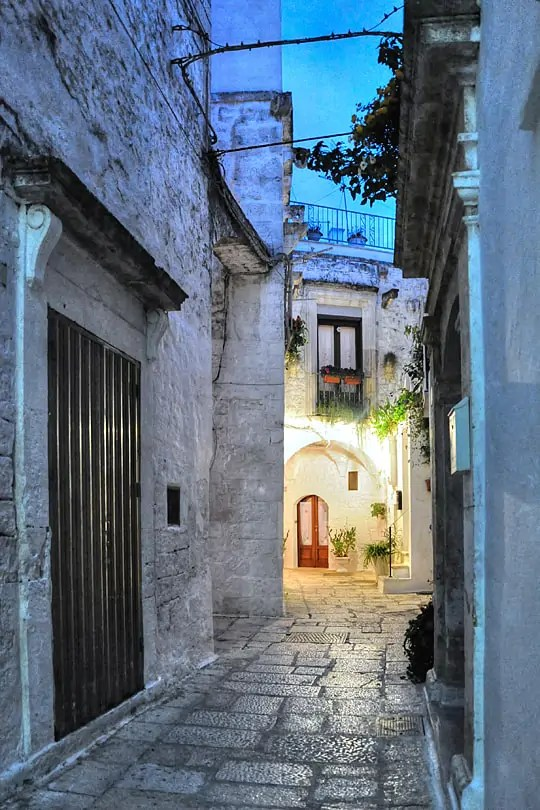 Getting lost in the alleys of Cisternino in the Vale' D'Itria in Italy