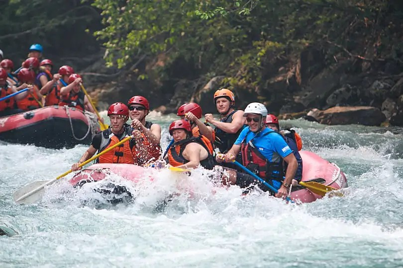 Rafting on the Green River. Photo courtesy of Wedge Rafting Whistler
