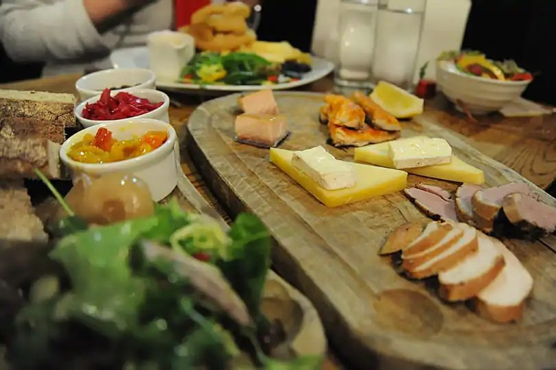 Smoked sharing platter at Wainwrights Inn, Chapel Stile, Cumbria