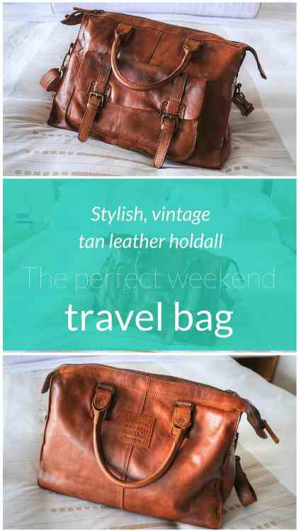 Stylish and timeless, this vintage tan leather holdall from Ashwood is the perfect weekend travel bag for the elegant traveller.