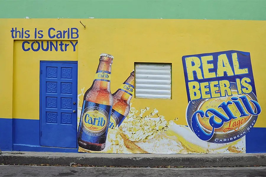 Carib Lager advertisement, St Kitts