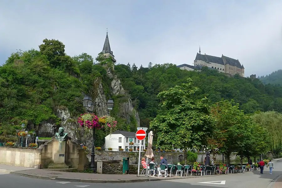 The pretty town of Viaden in the Our Valley, Luxembourg
