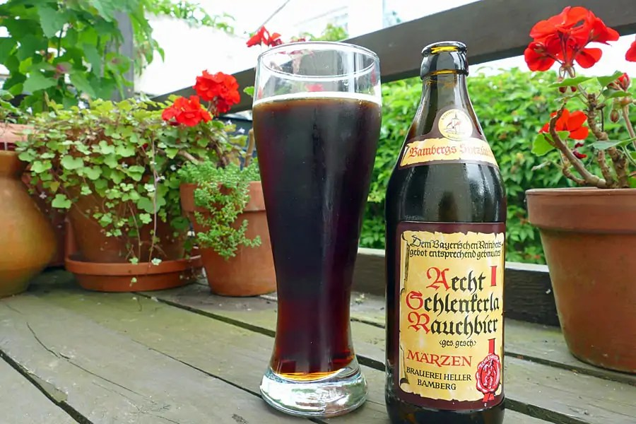 Smoked beer from bamberg