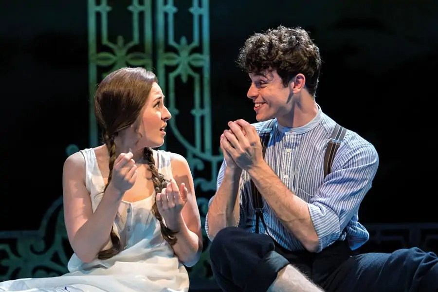 Review Half a Sixpence Devon Elise Johnson (Ann) and Charlie Stemp (Arthur Kipps) in Half a Sixpence