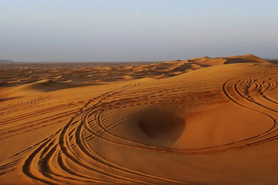 Deserts outside Dubai in the UAE