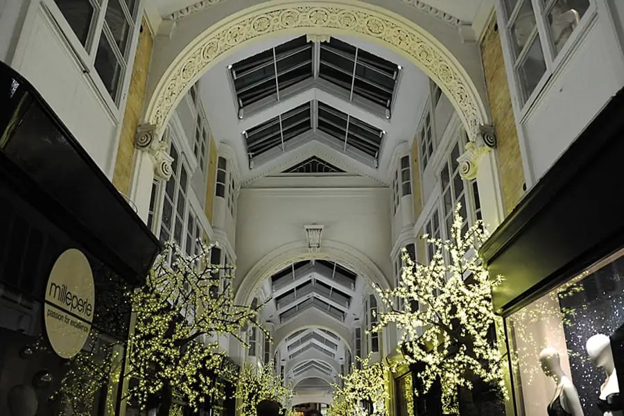 The Burlington Arcade in London at Christmas