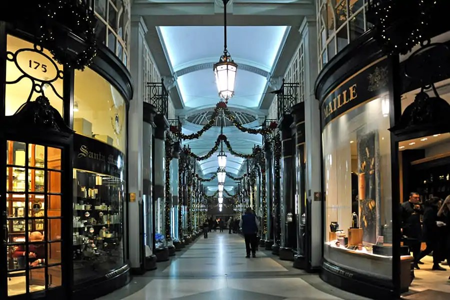 The Piccadilly Arcade at Christmas, London