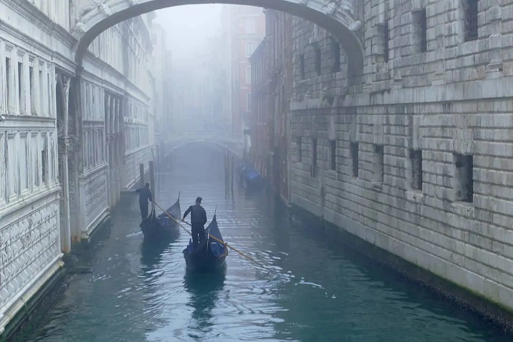 A misty morning in Venice, Italy