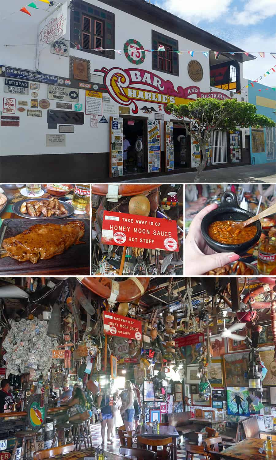 My favourite restaurant in Aruba, Charlie's Bar in San Nicolas
