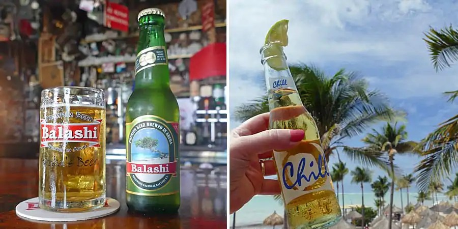 Balashi and Balashi Chill, Aruba's locally brewed lagers.