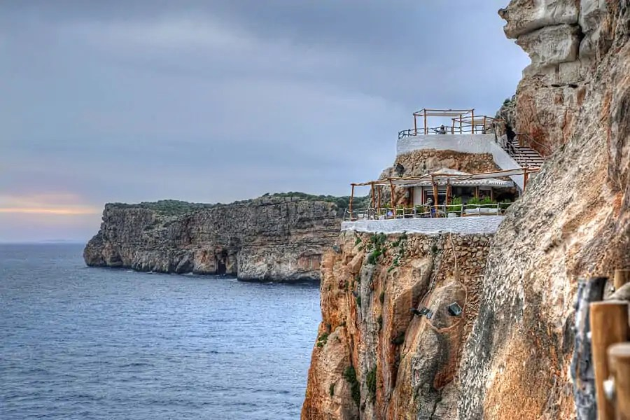 Cova d'en Xoroi, a night club in a cave in Menorca, Spain - one of my top 10 things to do in Menorca