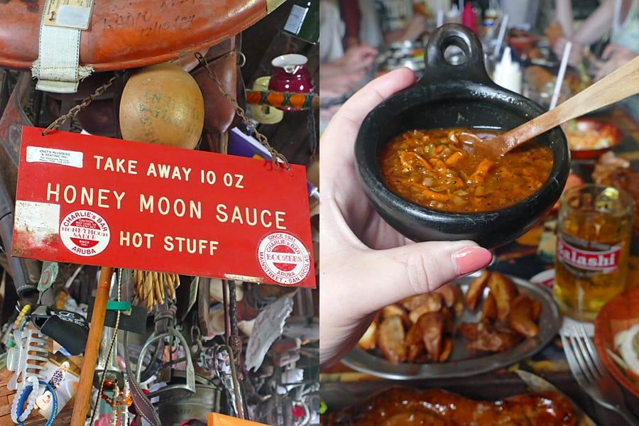 Honeymoon Sauce at Charlie's Bar in Aruba