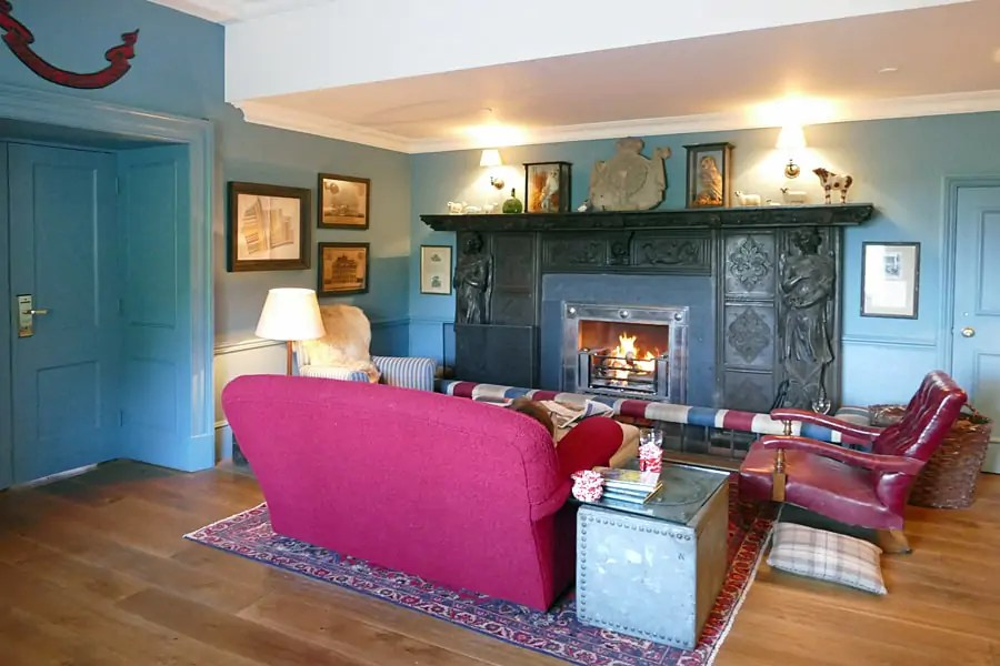 The snug at the Goodwood Hotel, nr Chichester, West Sussex
