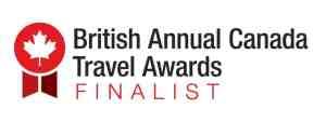British Annual Canada Travel Awards Finalist badge