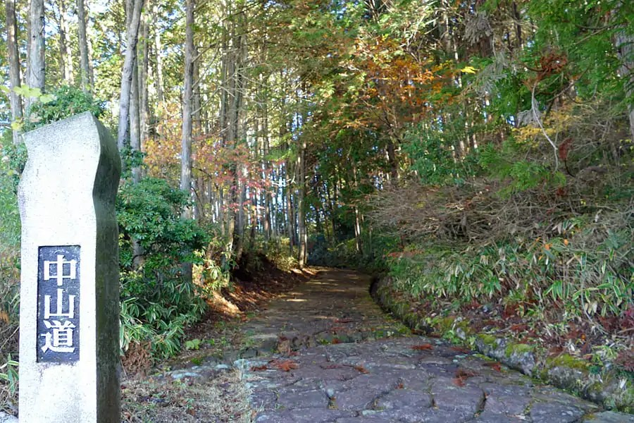 Walking the Nakasendo Way - ishu-datami, which translates as stone tatami, huge cobblestones