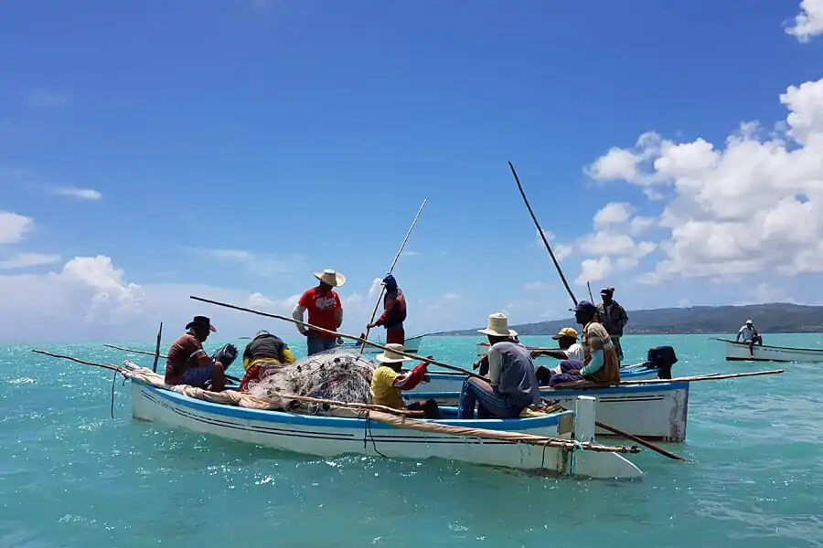 Fishing on Rodrigues Island in the Indian Ocean