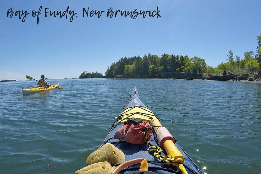 Kayaking from Deer Island, Bay of Fundy, New Brunswick