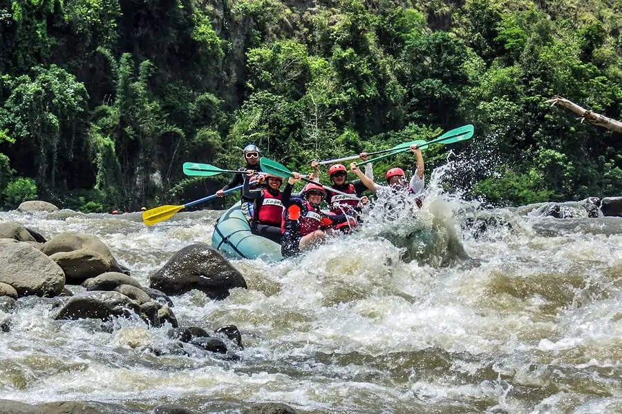 White-water rafting in the Philipines