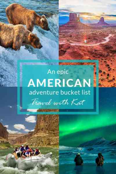 My epic American adventure bucket list