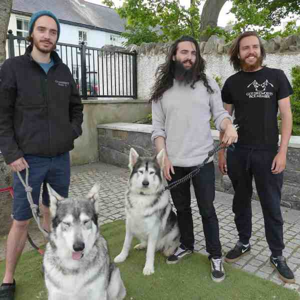 Game of Thrones direwolves | Odin and Thor (Summer and Grey Wind) and their owners