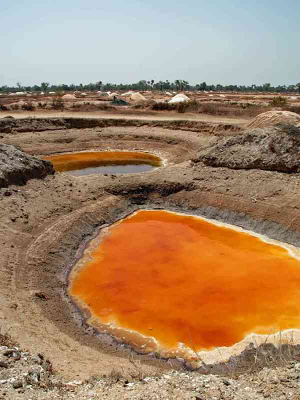 Salt pits, Sine Saloum Delta, Senegal