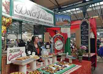 Sicilian sweet treats at St George's Market, Belfast