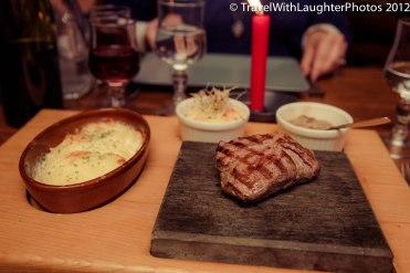 Steak on a HOT stone