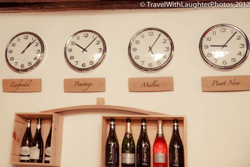 What better way to tell time than by wine region!