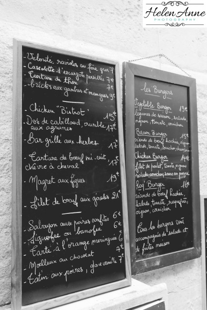 So many of the restaurants the menus change based on the markets. It makes it easy when it is on chalk boards.