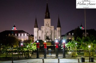 Jackson Square decorated for Christmas