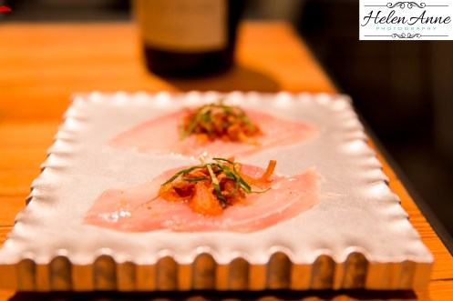 Hamachi on a chilled plate!