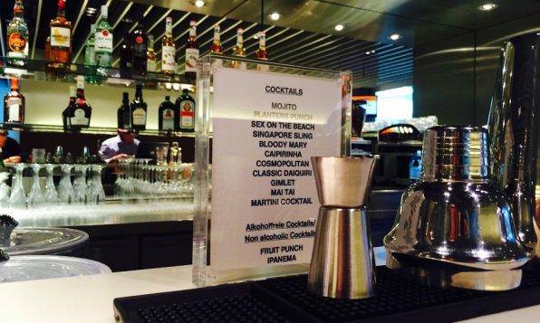 Lufthansa Senator Lounge München H Non-Schengen Review Cocktailkarte