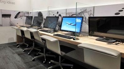 Brussels Airlines Lounge The Loft Flughafen Brüssel-Zaventem Computerplätze