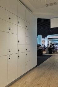 Brussels Airlines Lounge The Loft Flughafen Brüssel-Zaventem Schließfächer