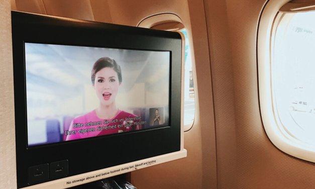 Review Thai Business Class 777 Phuket - Frankfurt Safety-Video