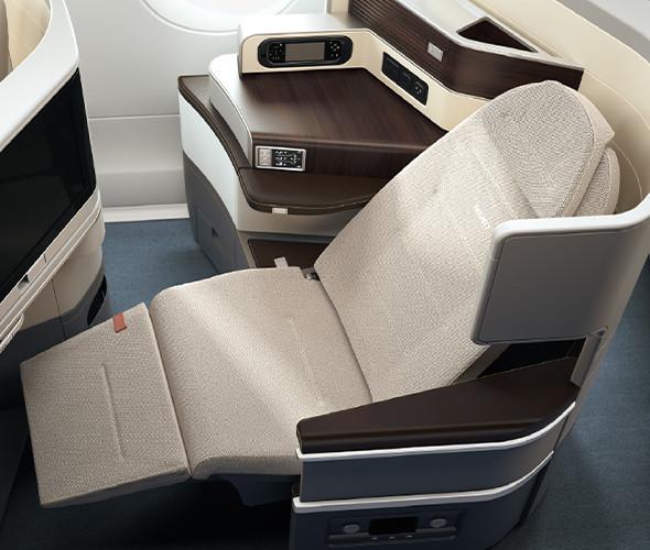 neue TAP Business Class Airbus A330-900neo Sitz Recaro Relaxposition