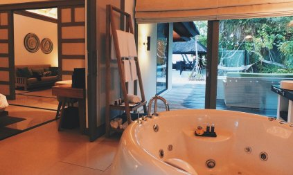 Review JA Manafaru Maldives Badezimmer 3