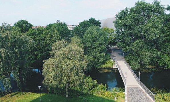 Review Steigenberger Parkhotel Braunschweig Gym Spa Terrasse Aussicht Park