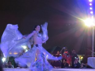 Belly dance in desert