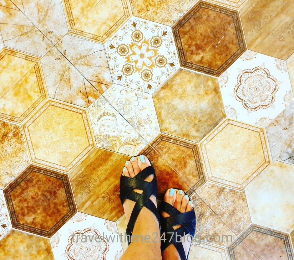 Tiles or Patterned flooring at Cafe Funkie Town